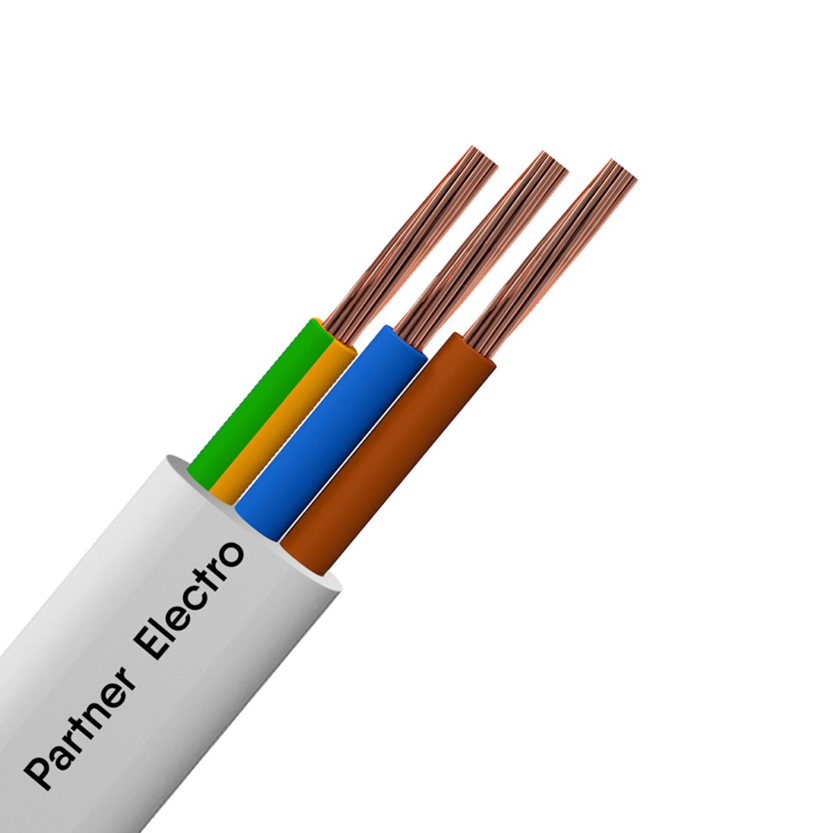 Провод ПуГВВ 3х2.5 10 м цвет белый
