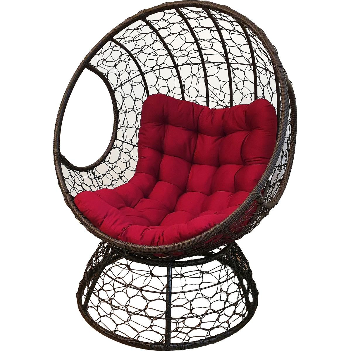 Кресло-шар Greengard из искуственного ротанга с подушкой