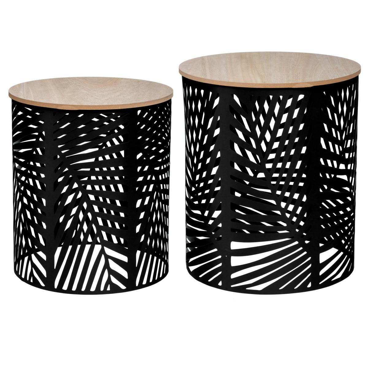 Набор столиков кофейных Atmosphera 157205A ø39 см h40/45 см дерева/металл 2 шт.