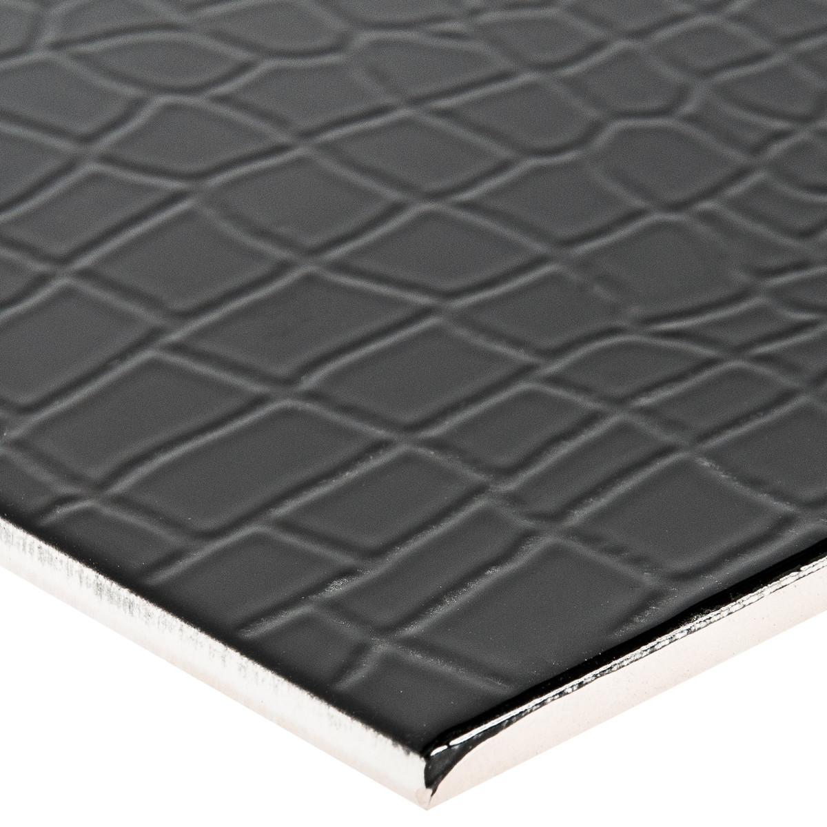 Плитка настенная Golden Tile Кайман 25x40 см 1.6 м² цвет черный