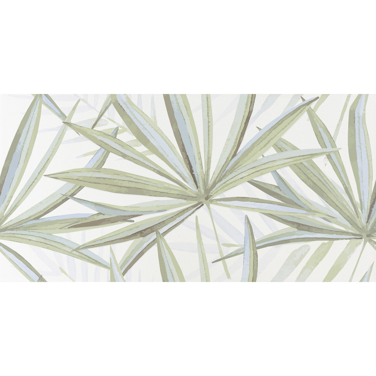 Декор LB Ceramics Моана Бамбук 19.8x39.8 см 1.58 м² цвет белый/зеленый