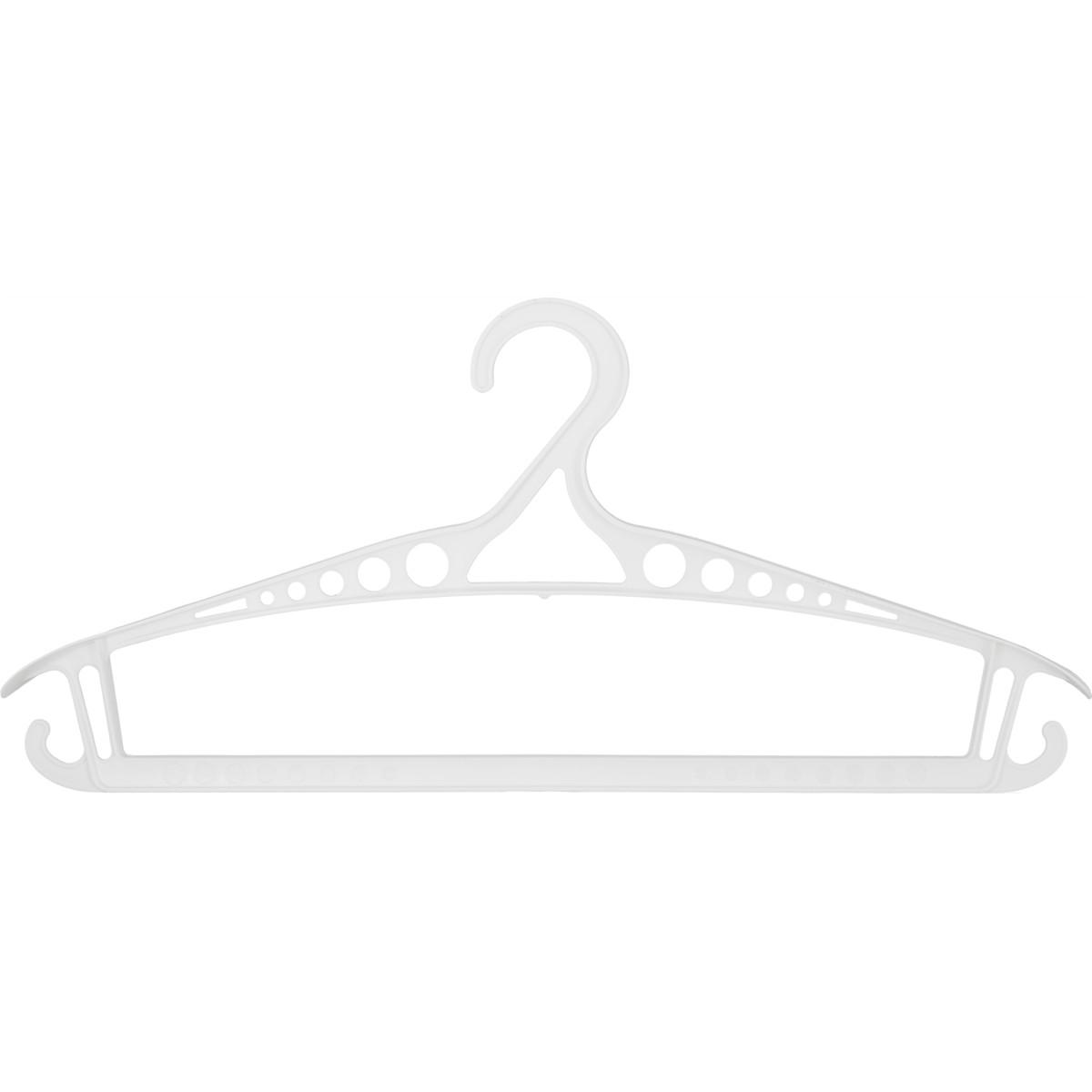 Плечики размер 48-50 425x188x32 мм полипропилен цвет белый