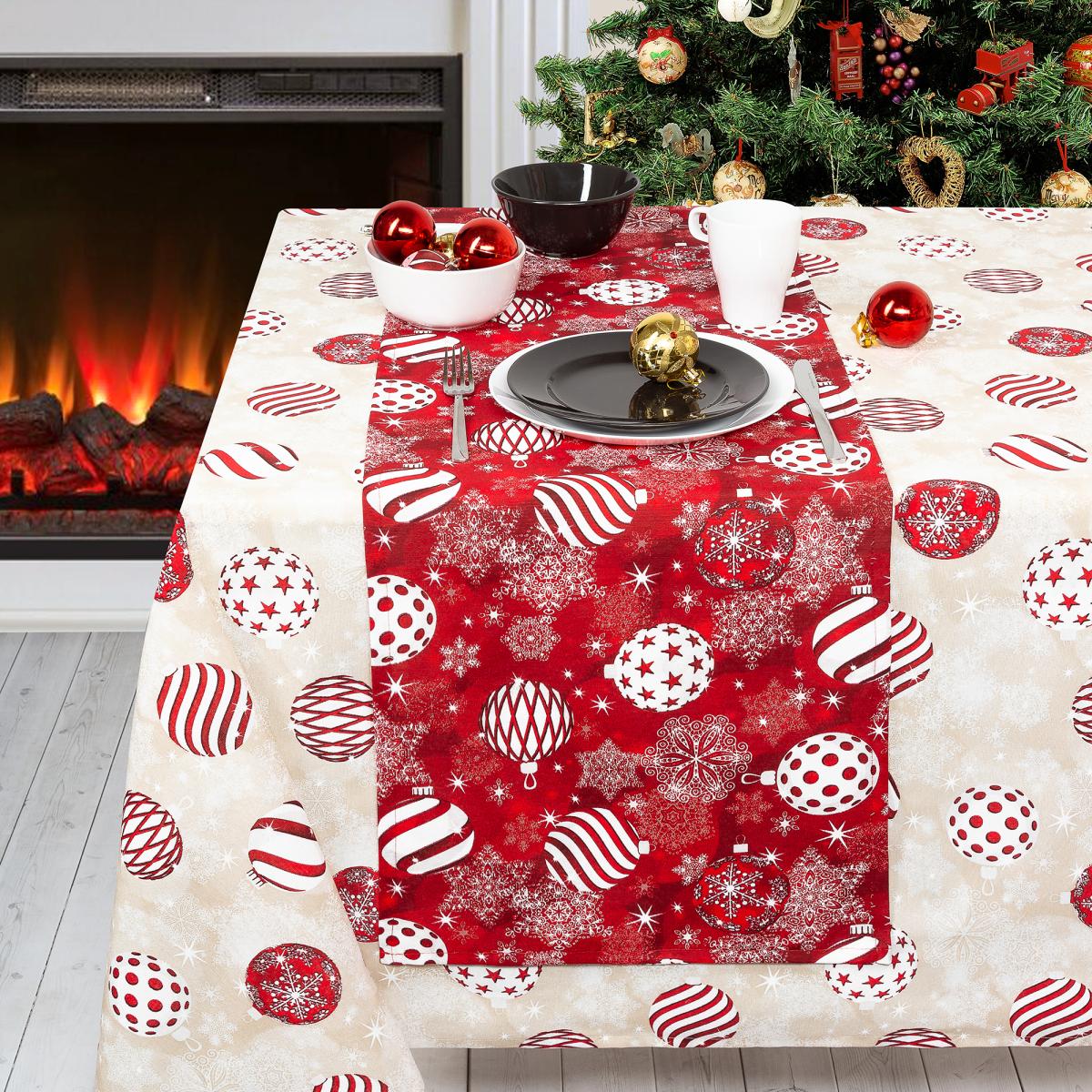 Дорожка «Новогодние Традиции» 40Х140 Цвет Красный