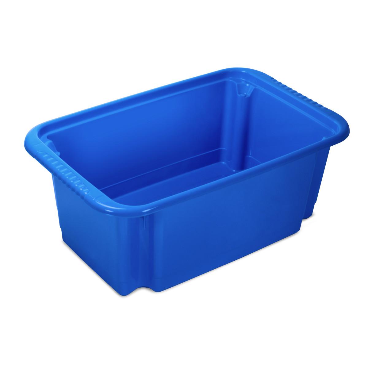 Корзина для игрушек Пиколо 480x302x185 мм 18.3 л пластик цвет синий