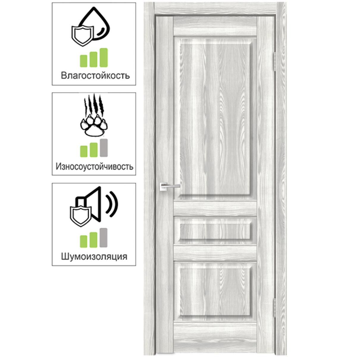 Дверь межкомнатная Летиция 60х200 см с фурнитурой ПВХ цвет клен