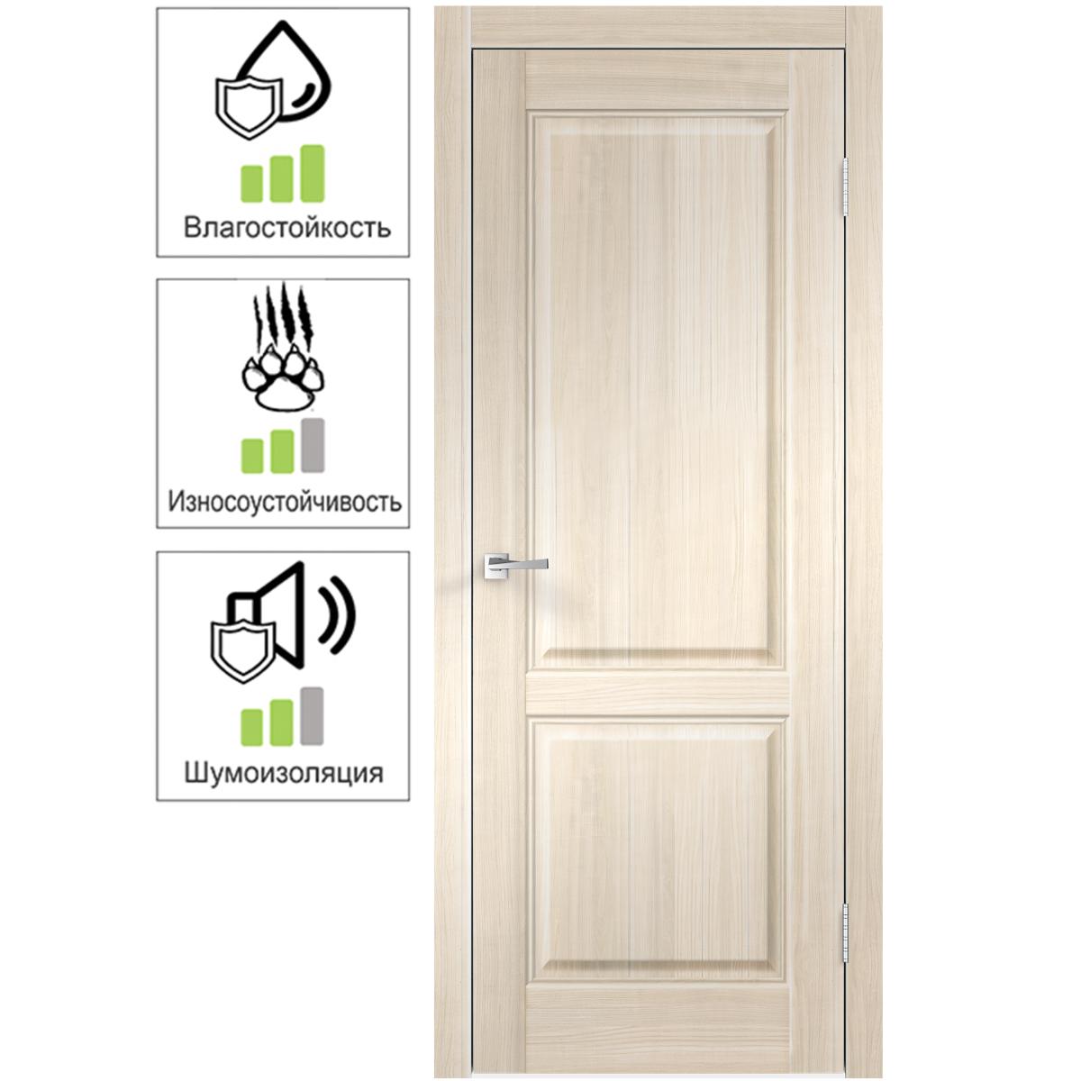 Дверь межкомнатная Вилла 2Р 60х200 см с фурнитурой ПВХ цвет японский ясень