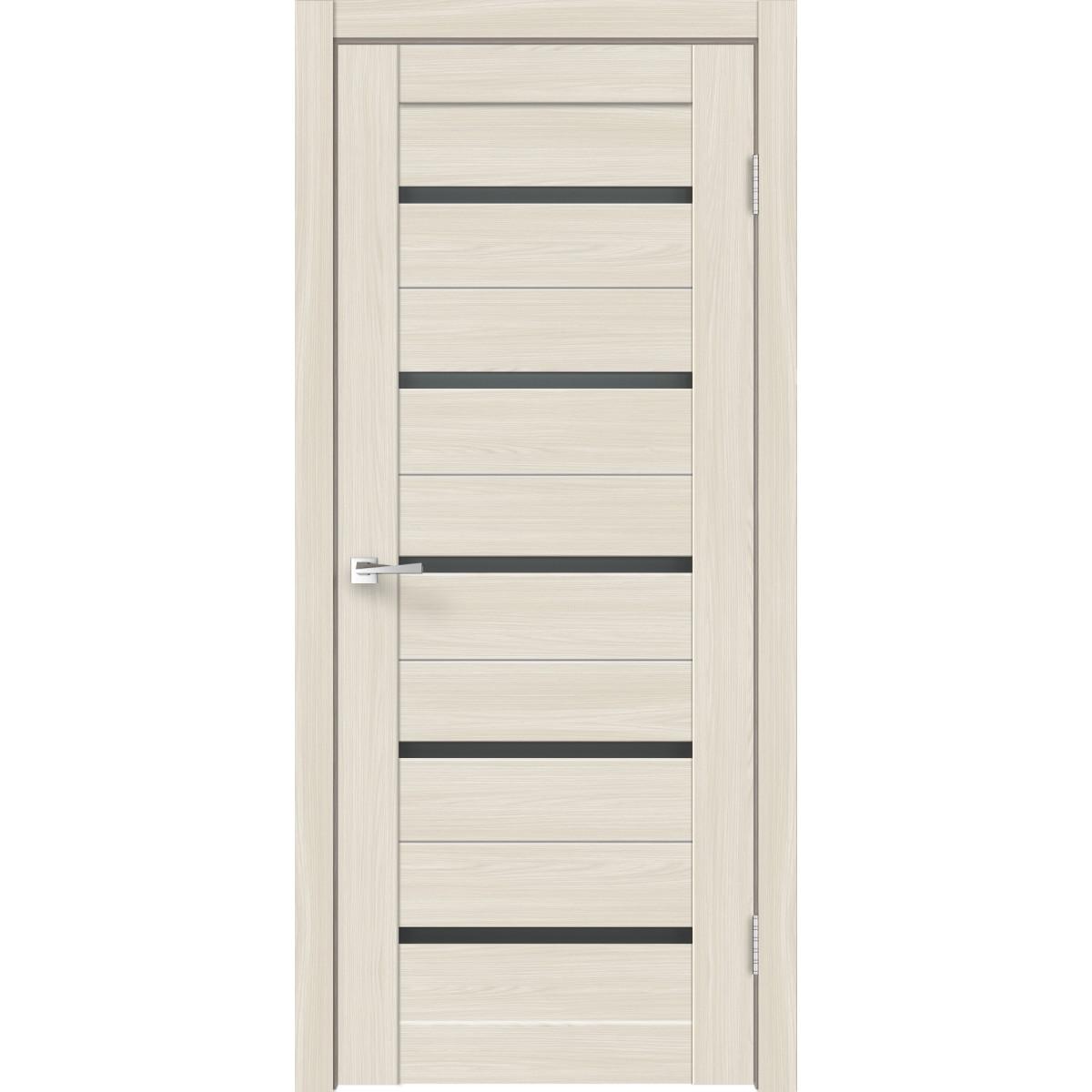 Дверь межкомнатная остеклённая Калипсо 90х200 см с фурнитурой Hardflex цвет ясень бора