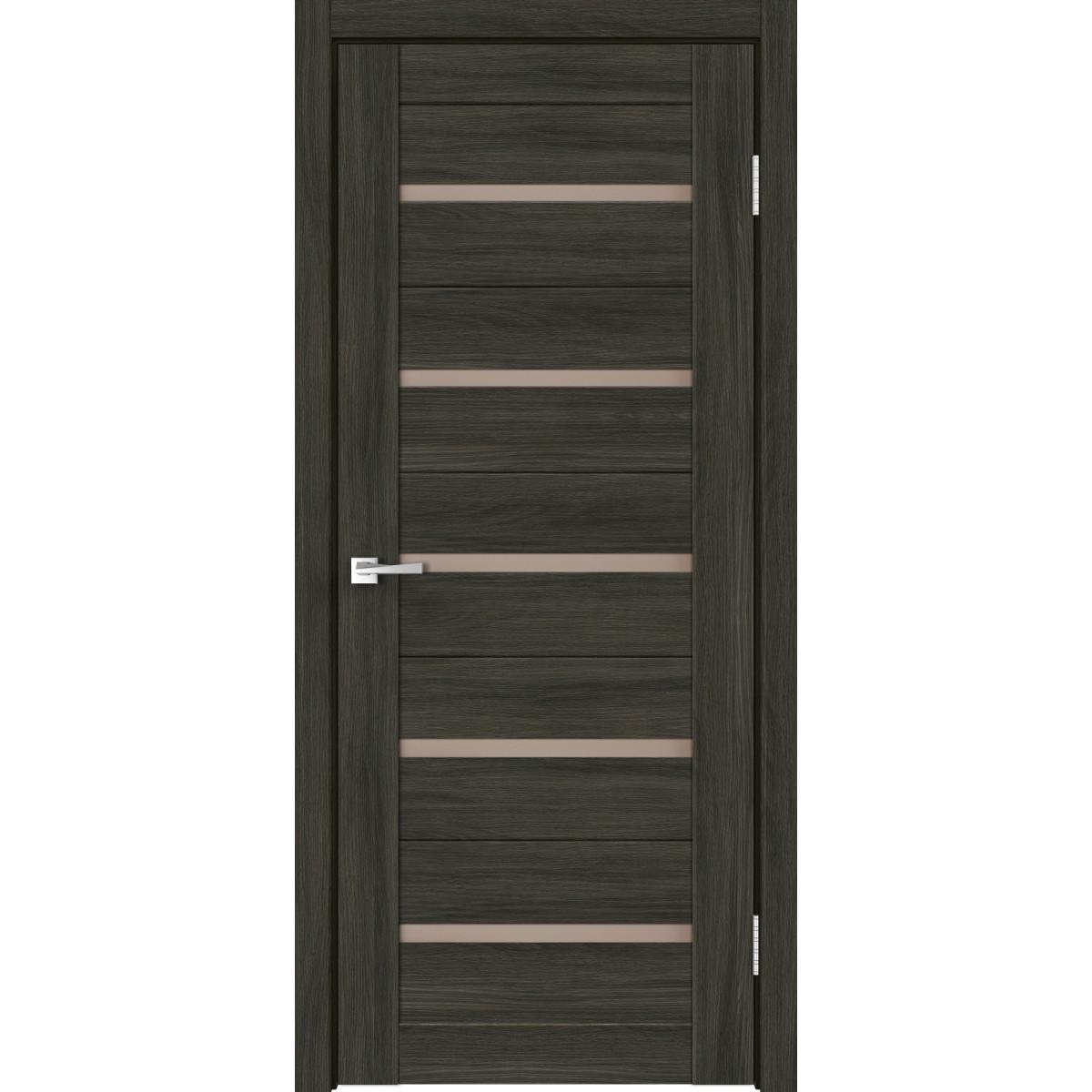 Дверь Межкомнатная Остеклённая Калипсо 70Х200 С Фурнитурой Hardflex Цвет Дуб Кастелло