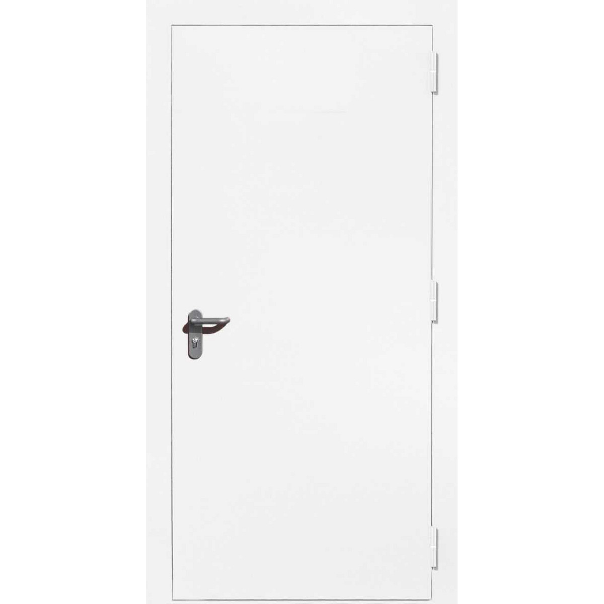 Дверь противопожарная дымогазонепроницаемая 01-EIS 9016 97х207 см правая цвет белый