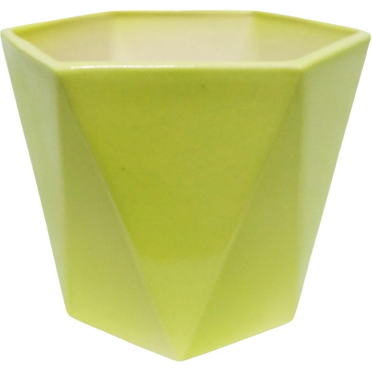 Кашпо цветочное «Кактусник» ø10 мм 0.49 л керамика салатовый