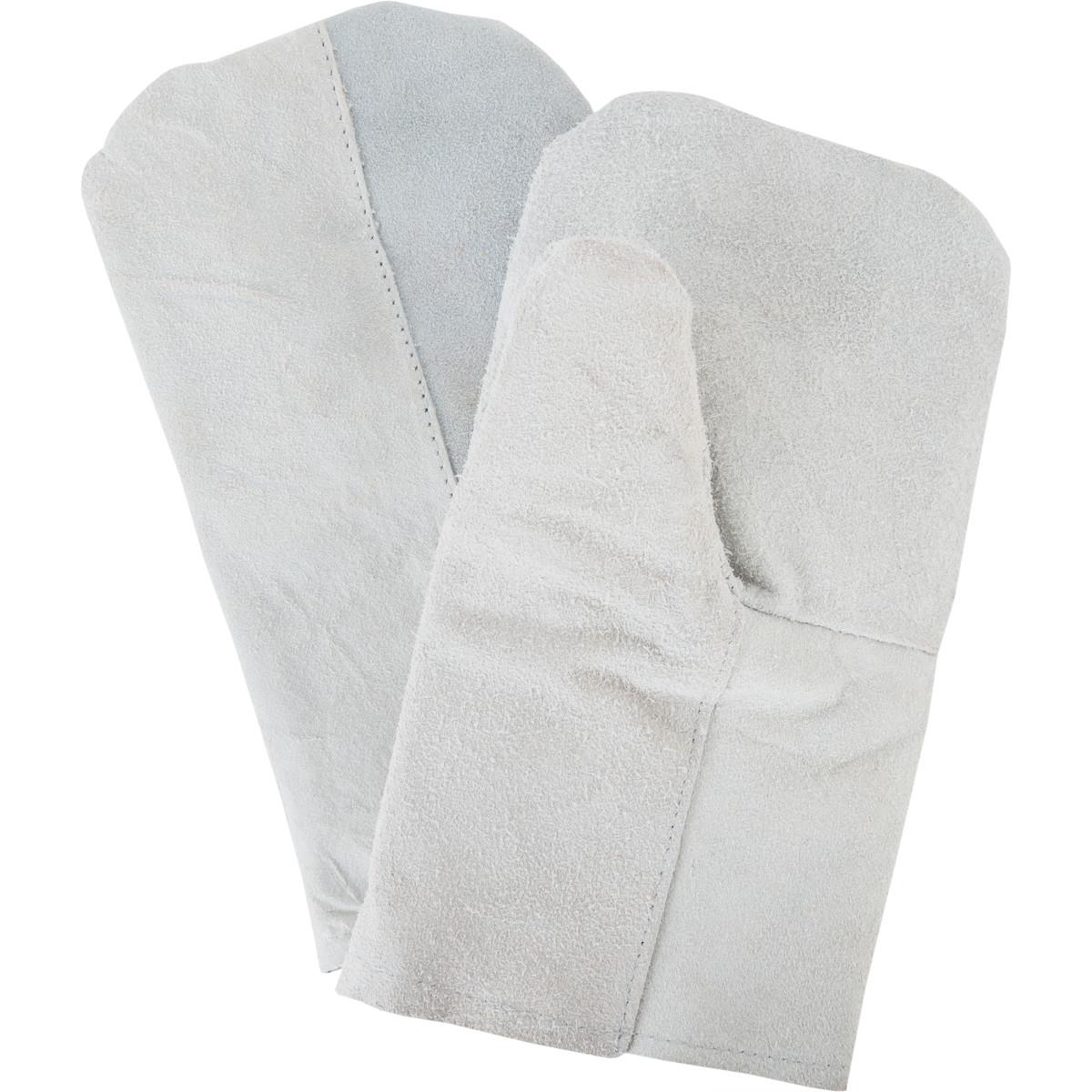 Рукавицы спилковые с искусственным мехом съемный подклад