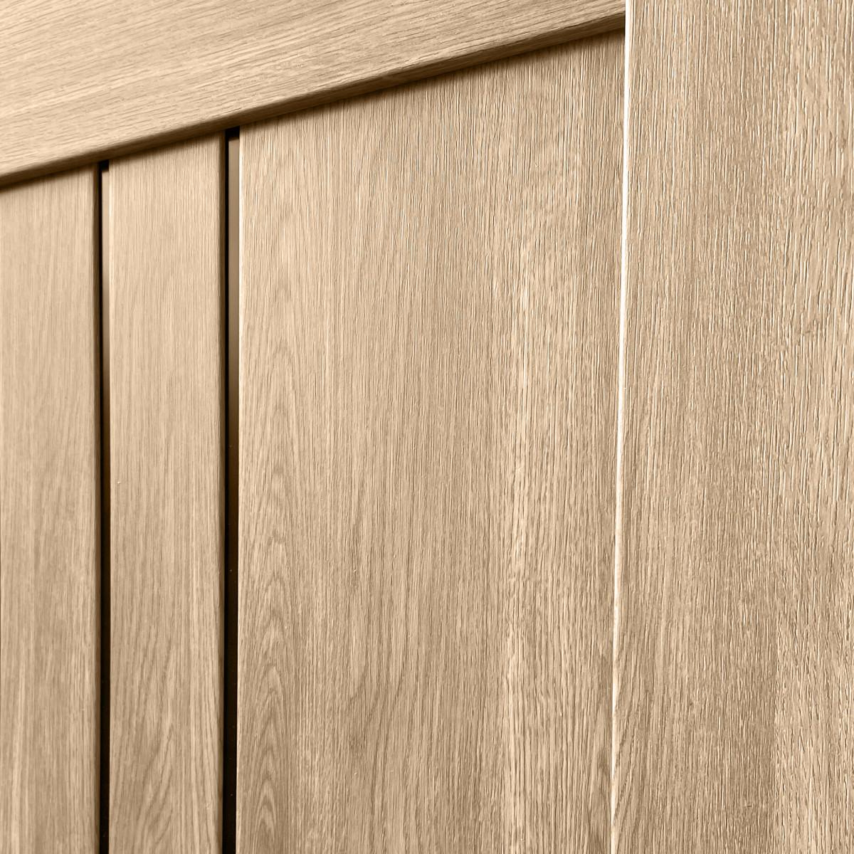 Дверь Межкомнатная Остеклённая Бергамо 70Х200 С Фурнитурой Пвх Цвет Европейский Дуб