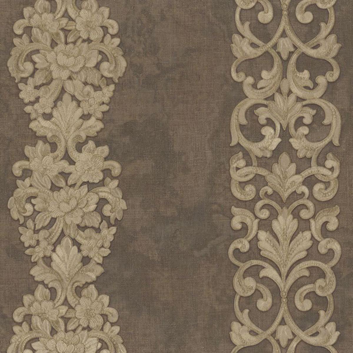 Обои флизелиновые Decori-Decori Alba коричневые 1.06 м 82259