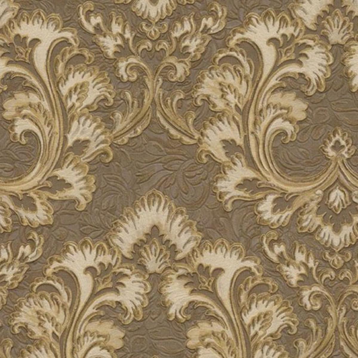 Обои флизелиновые Decori-Decori Amata коричневые 1.06 м 81933