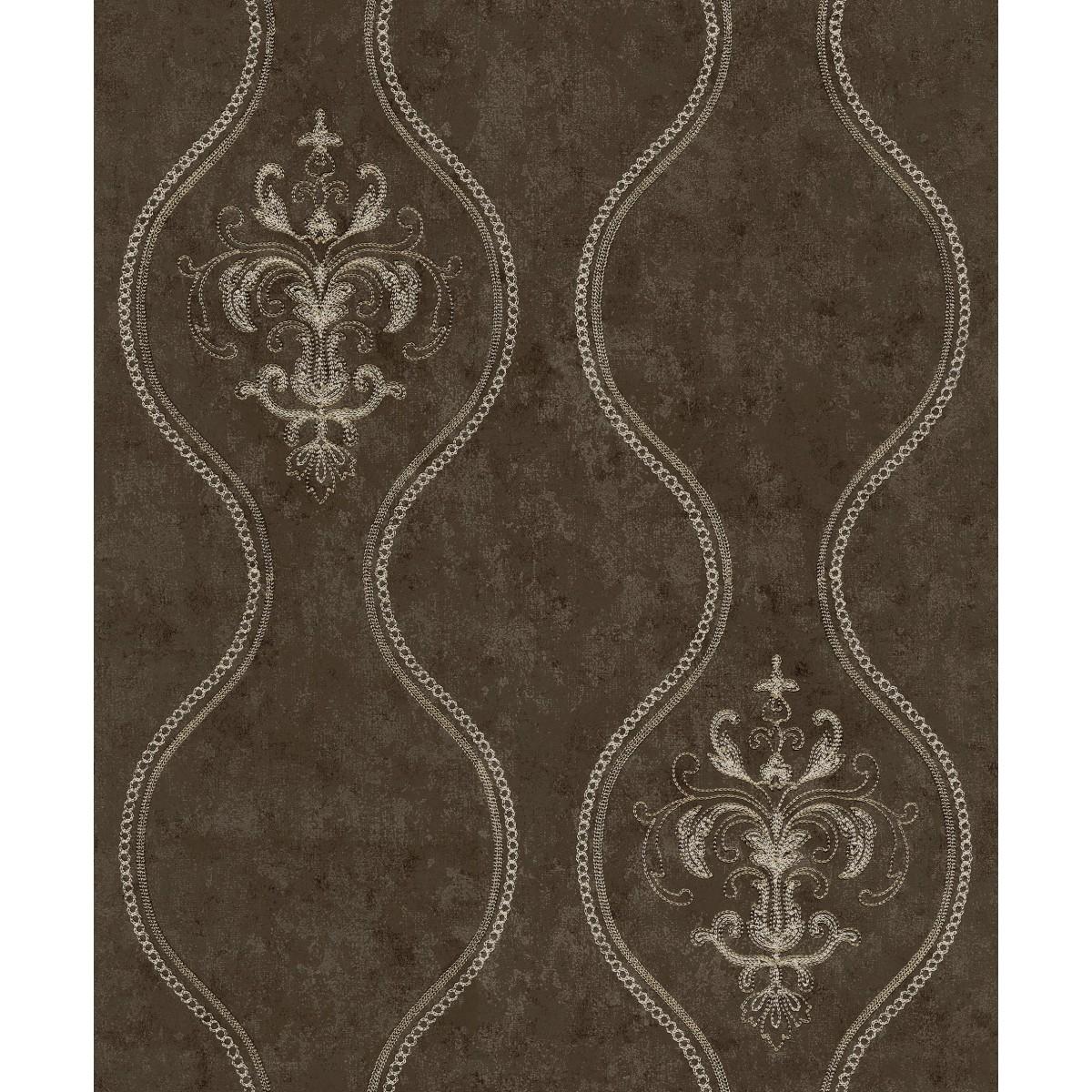 Обои флизелиновые Wiganford Melange коричневые 0.53 м XSS0705