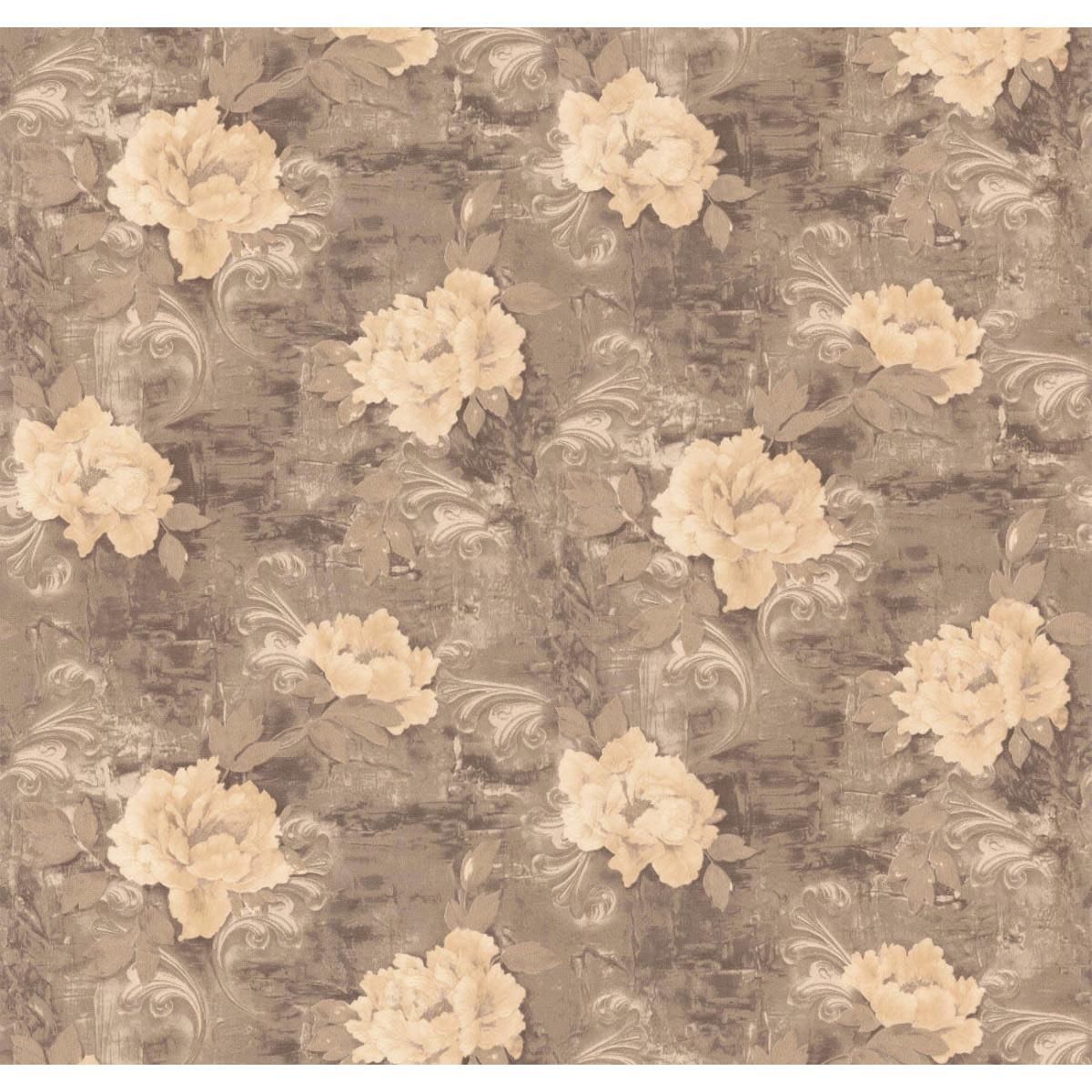 Обои флизелиновые Мир Авангард Decorato коричневые 1.06 м 45-119-01