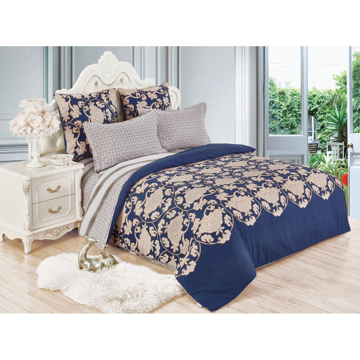 Комплект постельного белья Cleo двуспальный сатин 70x70 см