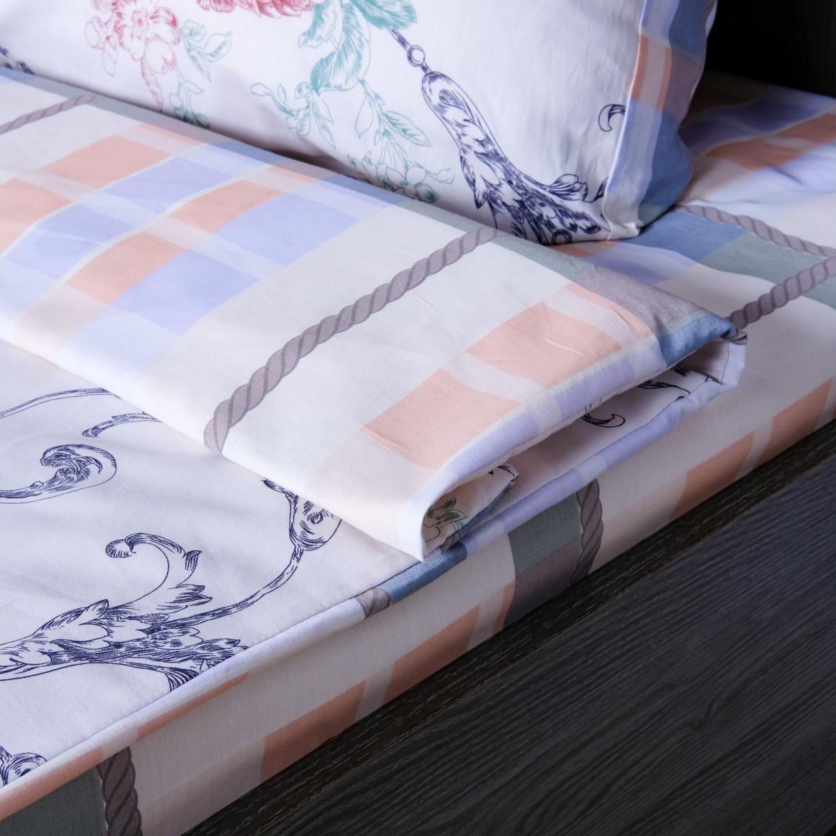 Комплект Постельного Белья Роза Полутораспальный Сатин 70x70