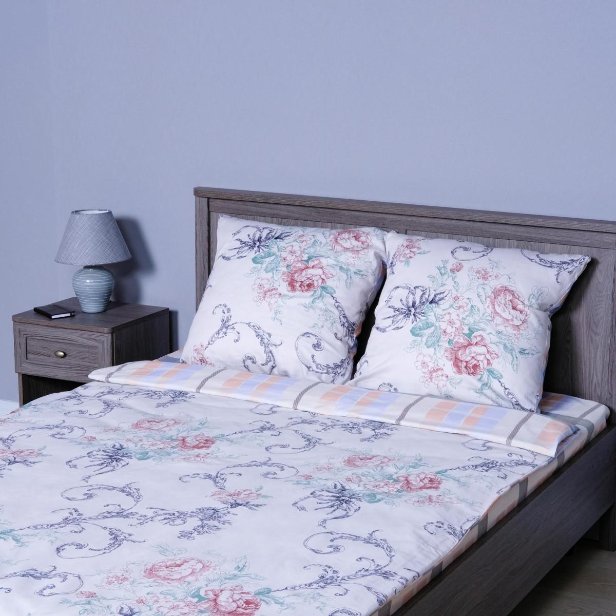 Комплект Постельного Белья Роза Двуспальный Сатин 70x70