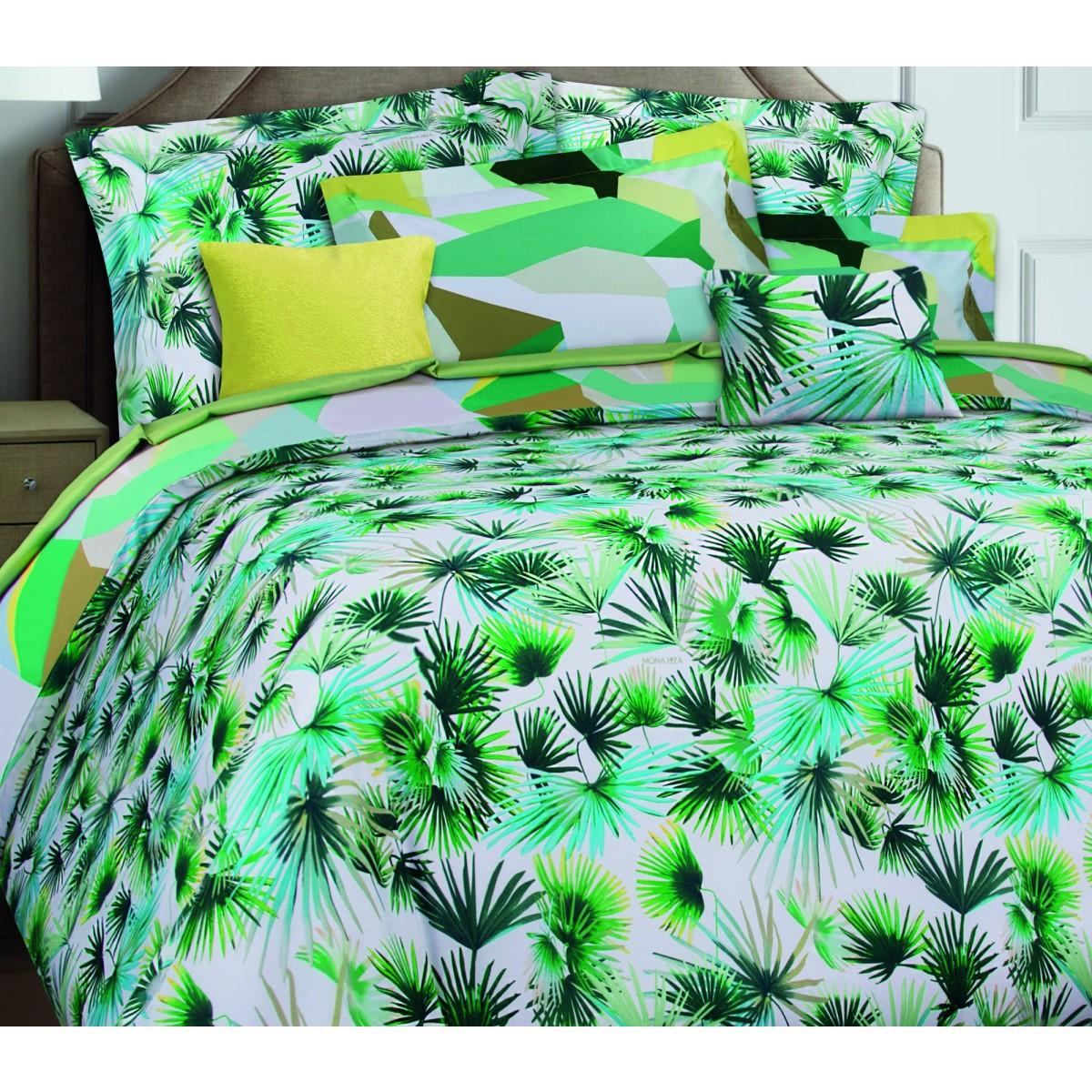 Комплект Постельного Белья Palm Полутораспальный Сатин 70x70