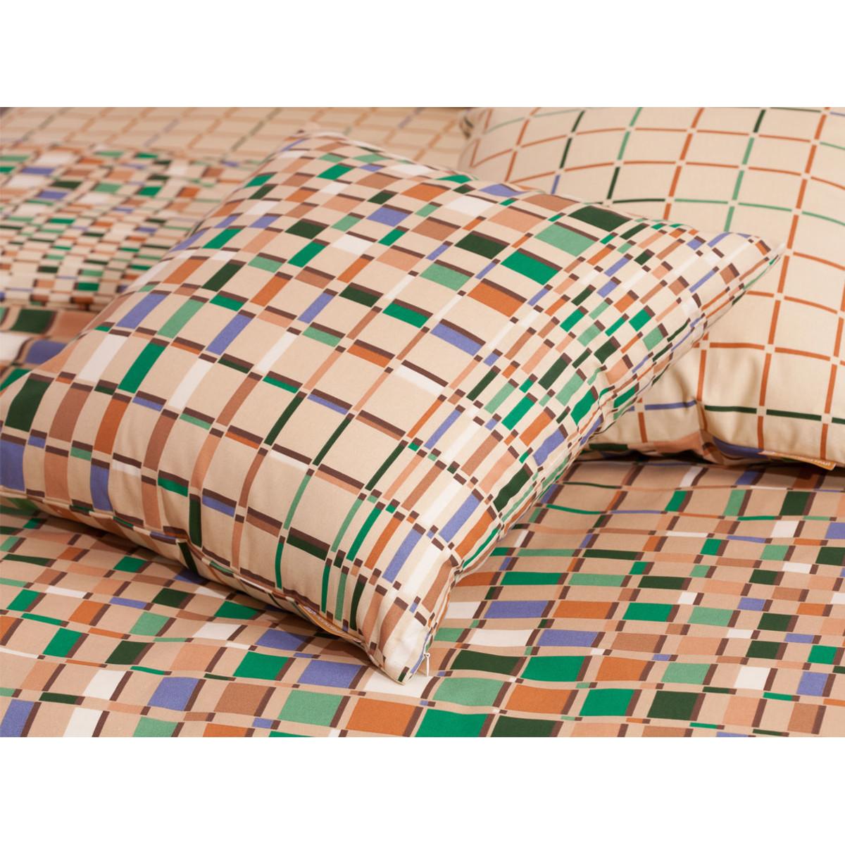 Комплект Постельного Белья Оксфорд Беж Семейный Бязь 70x70