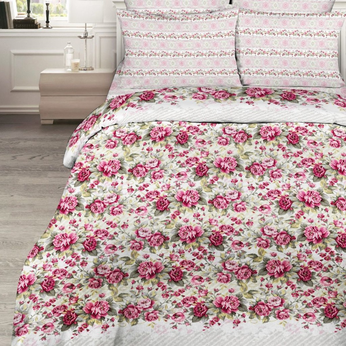Комплект Постельного Белья Розовый Сон Двуспальный Поплин