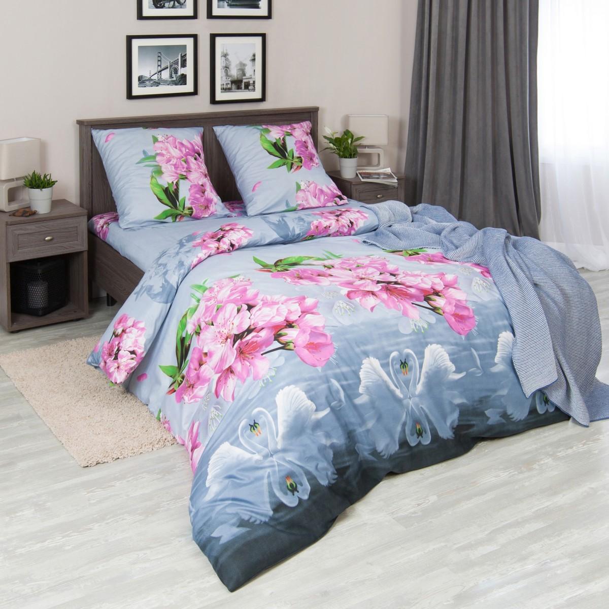 Комплект постельного белья Нисан двуспальный микрофибра