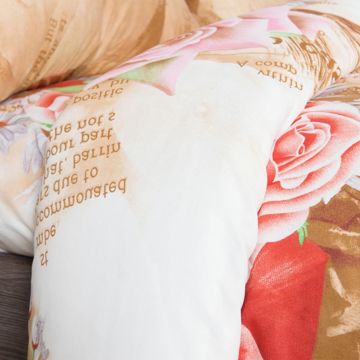 Комплект Постельного Белья Розы Любви Евро Микрофибра