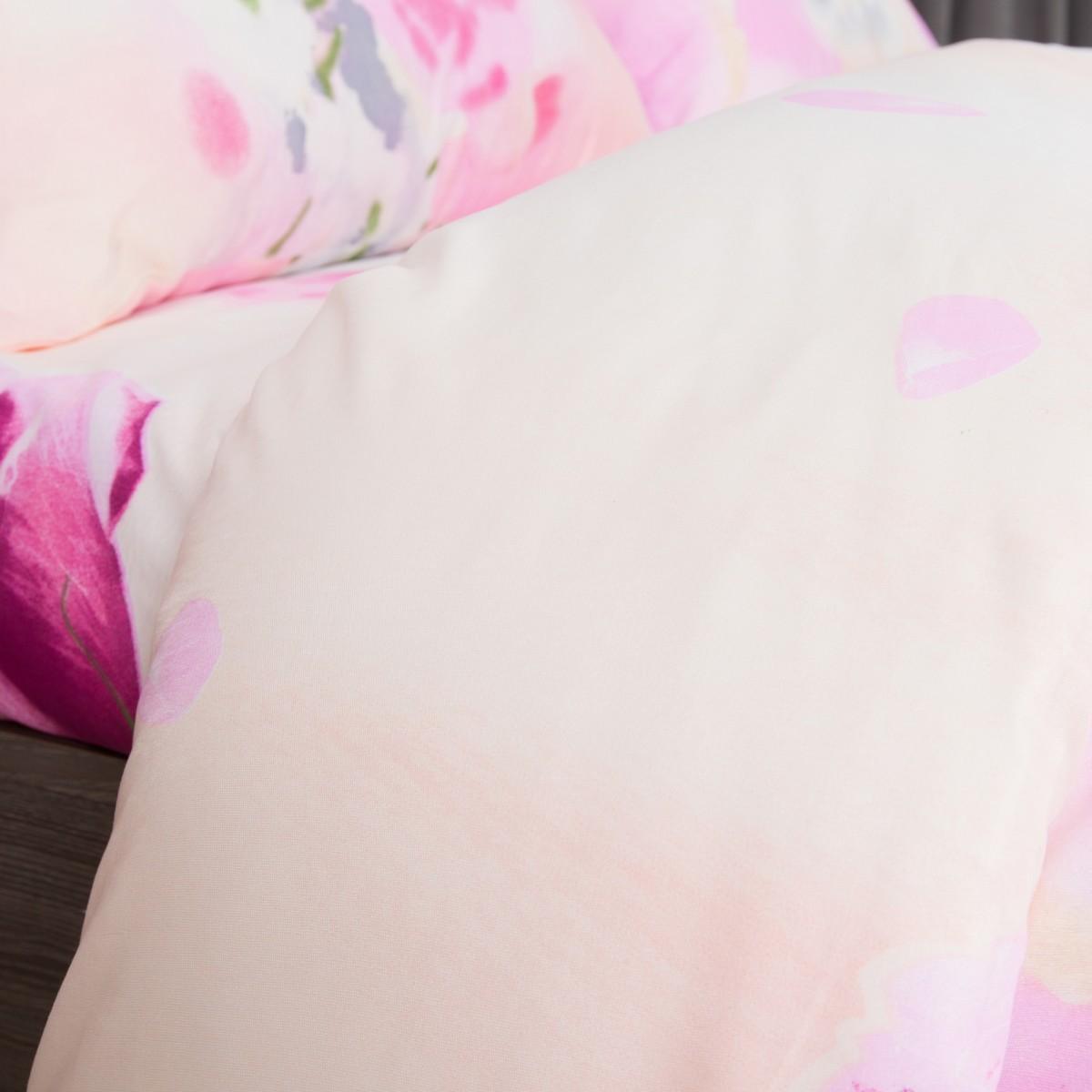 Комплект Постельного Белья Розовые Розы Евро Микрофибра