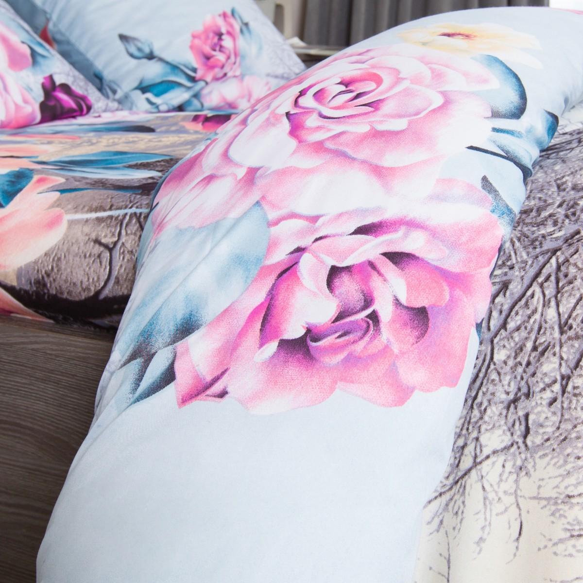 Комплект Постельного Белья Роза На Снегу Двуспальный Микрофибра