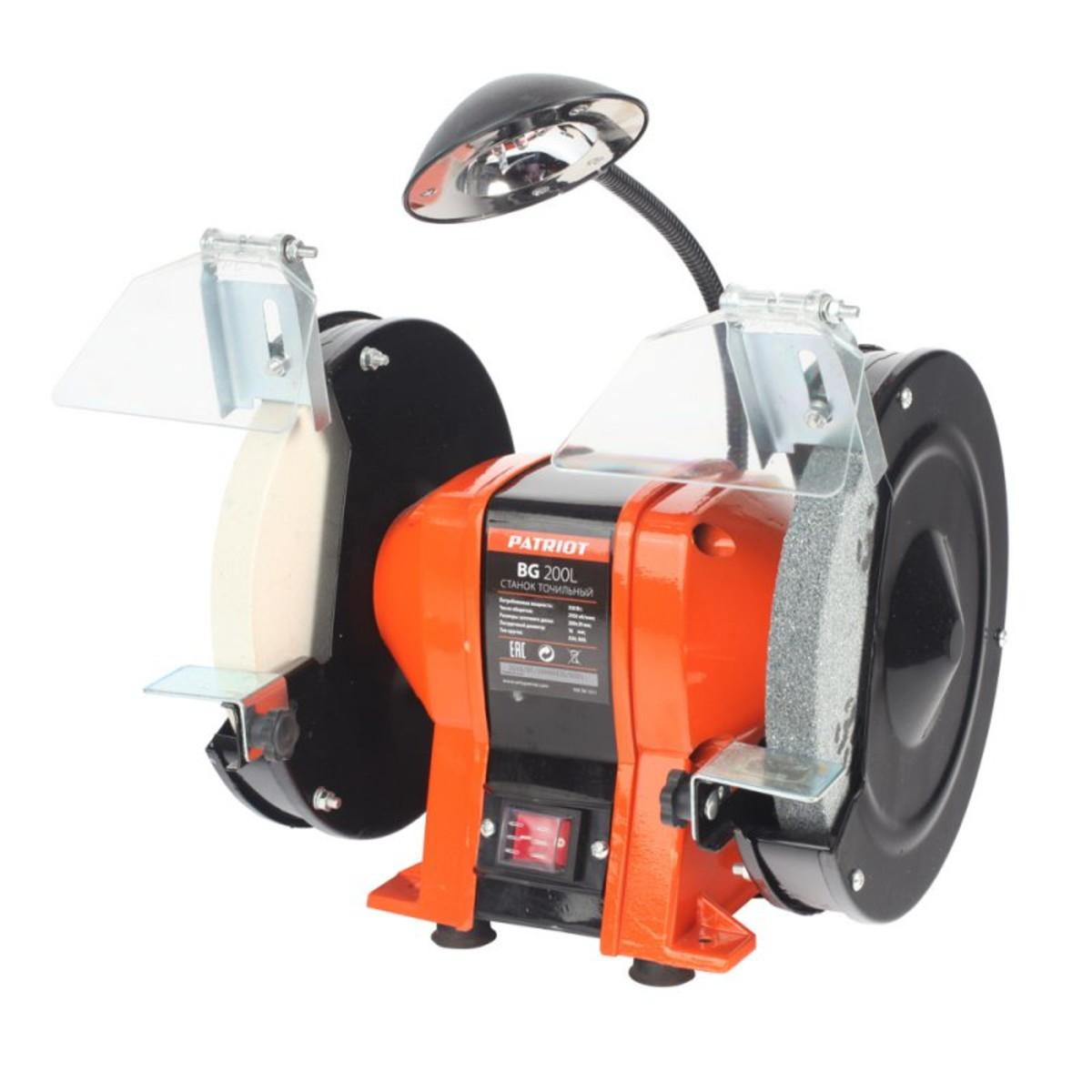 Станок точильный PATRIOT BG 200L 350 Вт 2950 об/мин