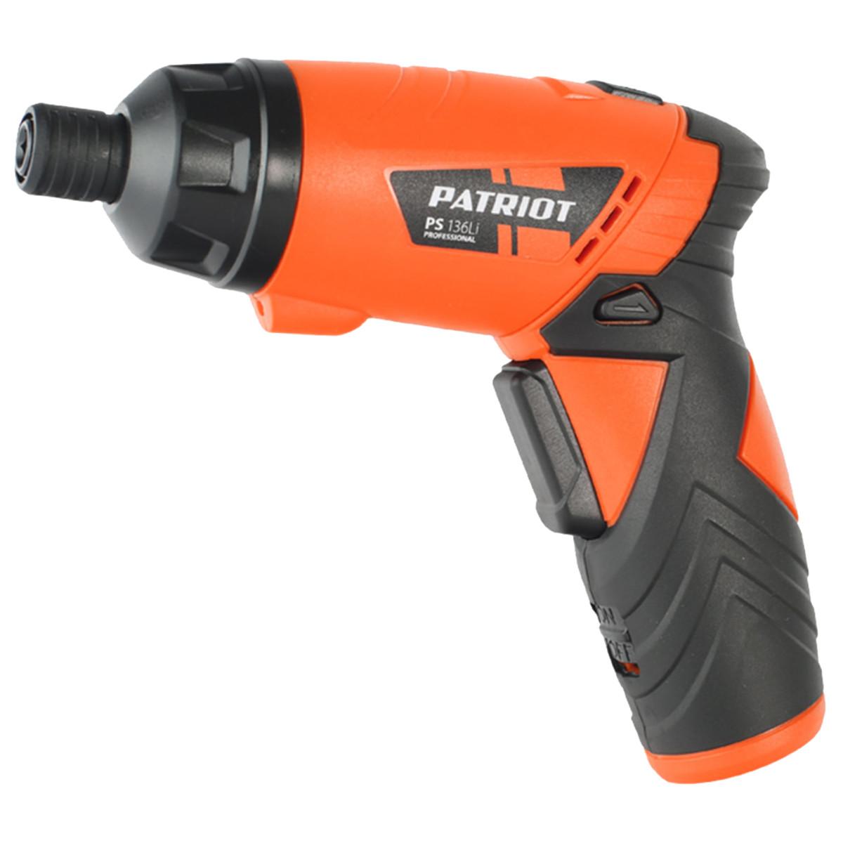 Аккумуляторная отвертка Patriot PS 136Li 180201303