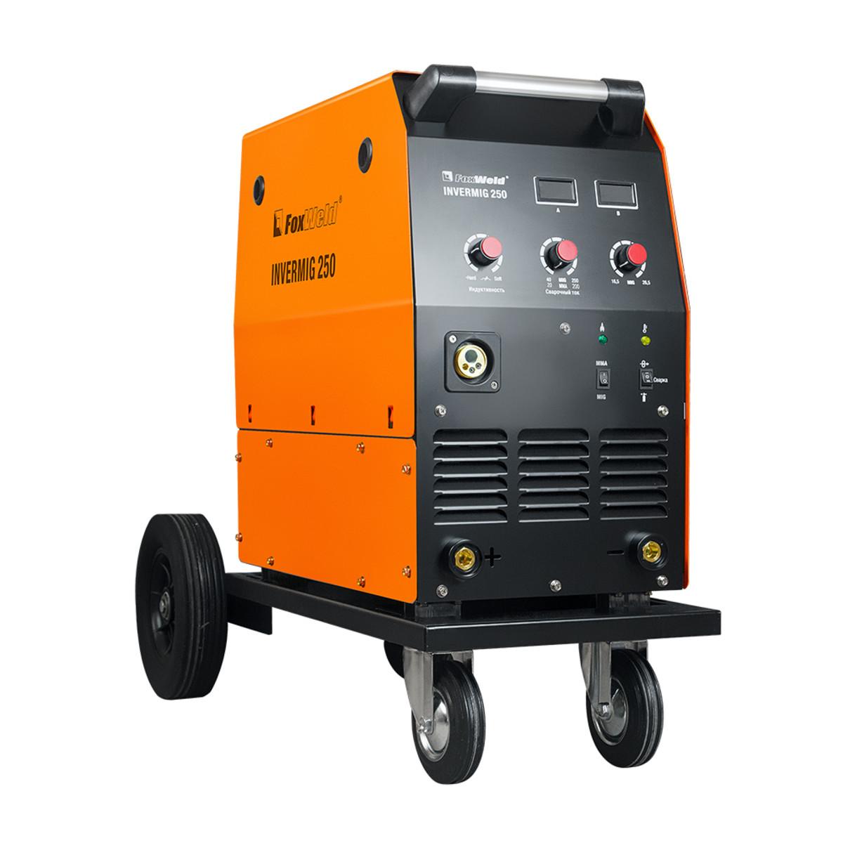 Сварочный аппарат инверторный полуавтомат FoxWeld Saggio MIG 250 с тележкой 5952