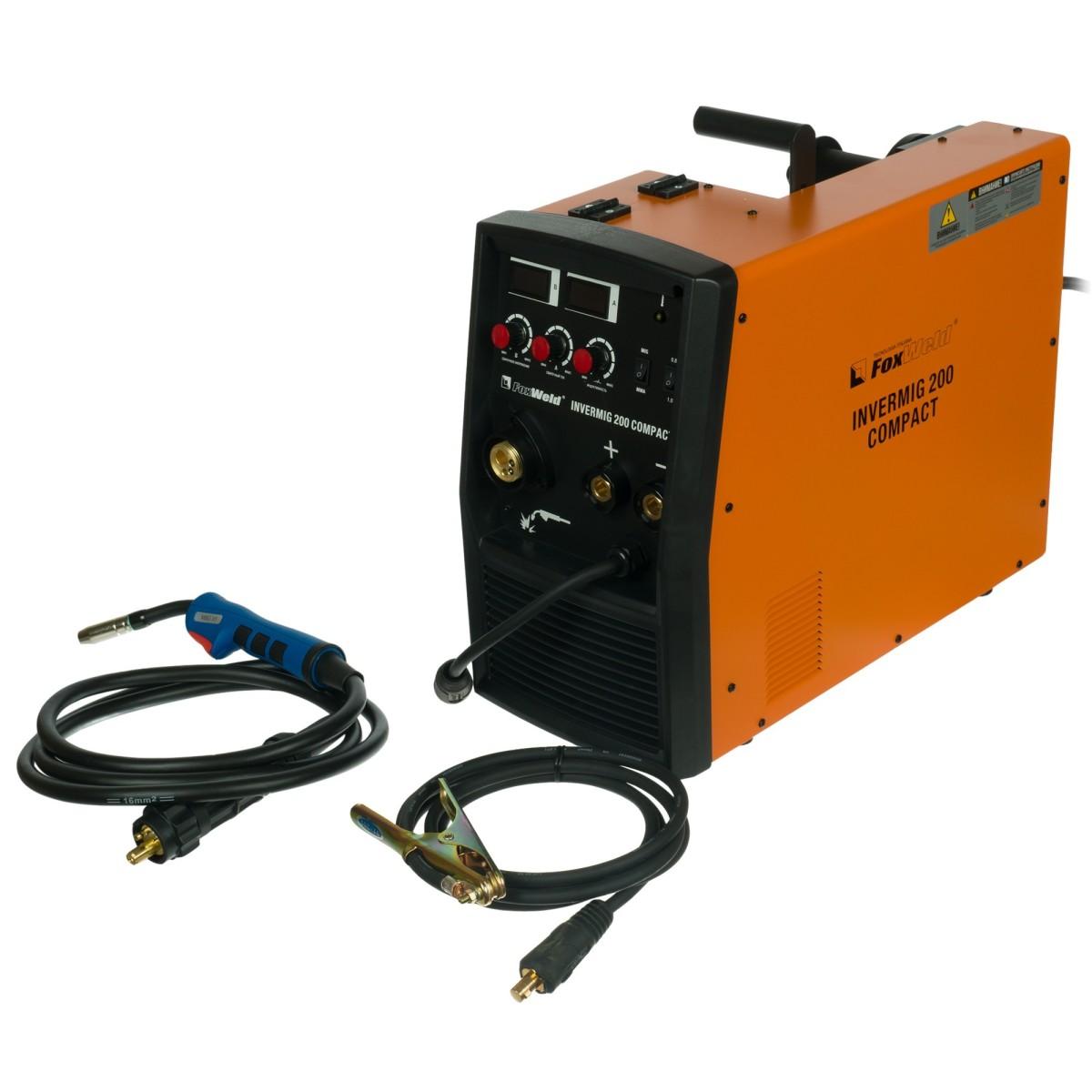 Сварочный аппарат инверторный полуавтомат FoxWeld INVERMIG 200 COMPACT 6144