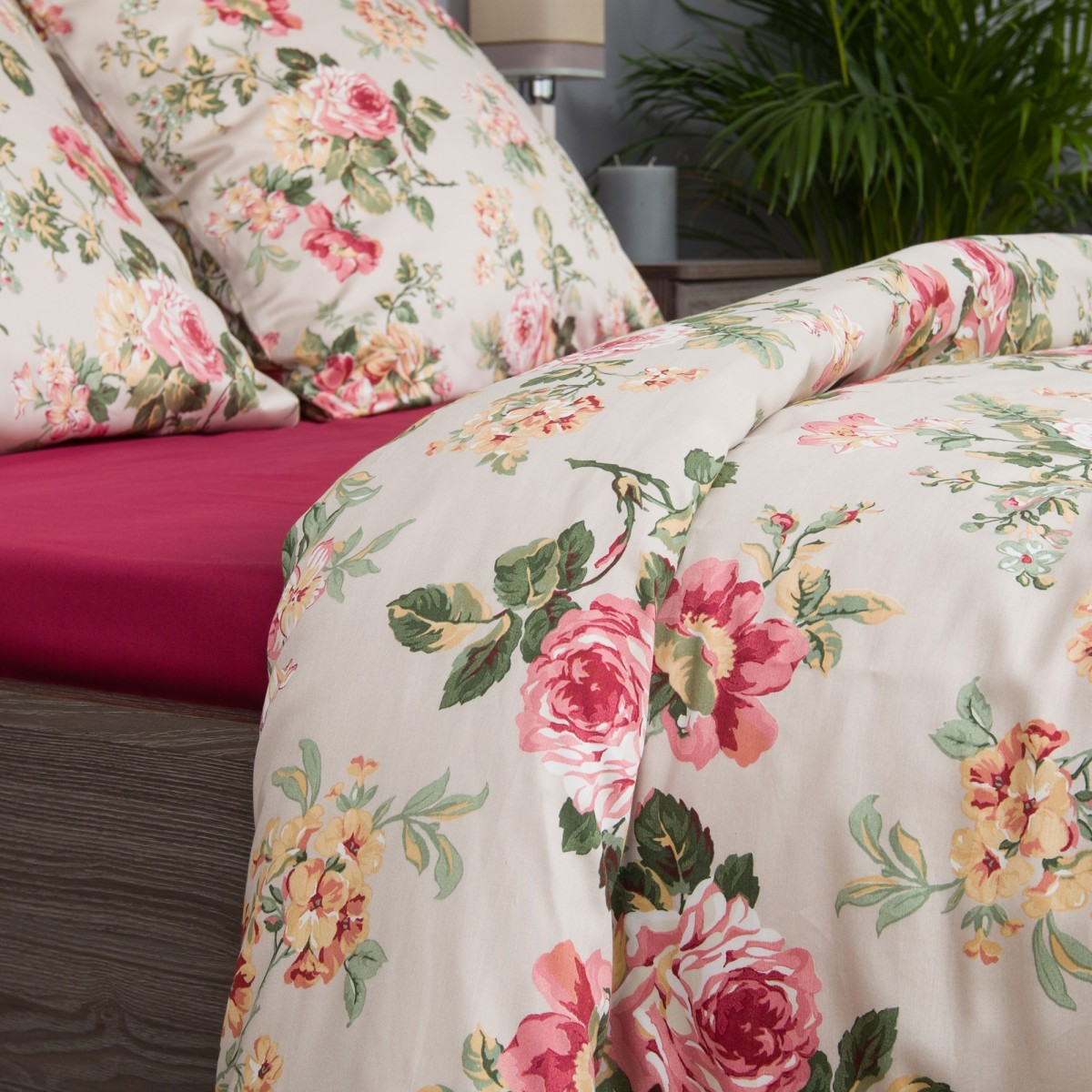 Комплект Постельного Белья Розарий Евро Сатин 70x70