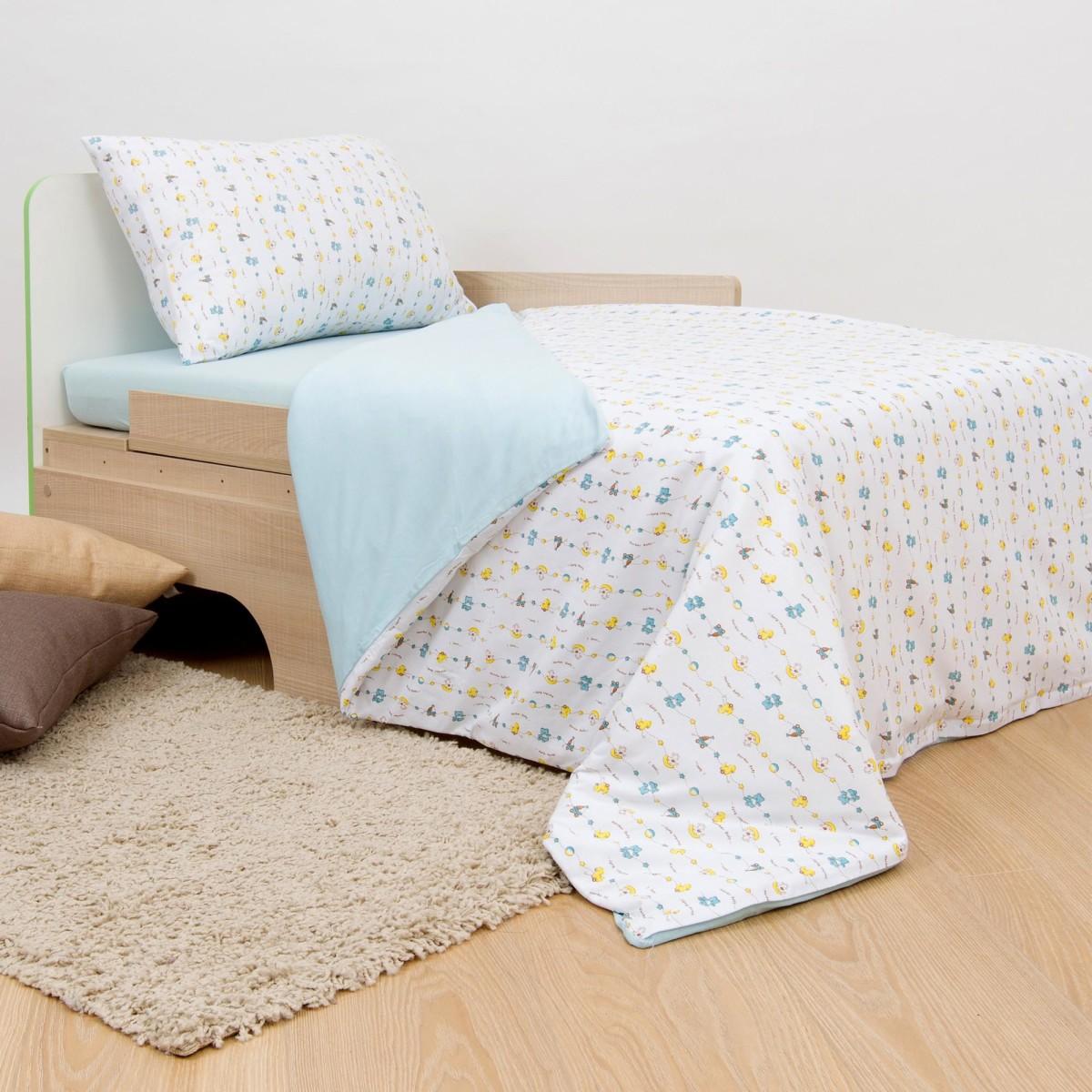 Комплект постельного белья Игрушки в кроватку трикотаж 3 предмета