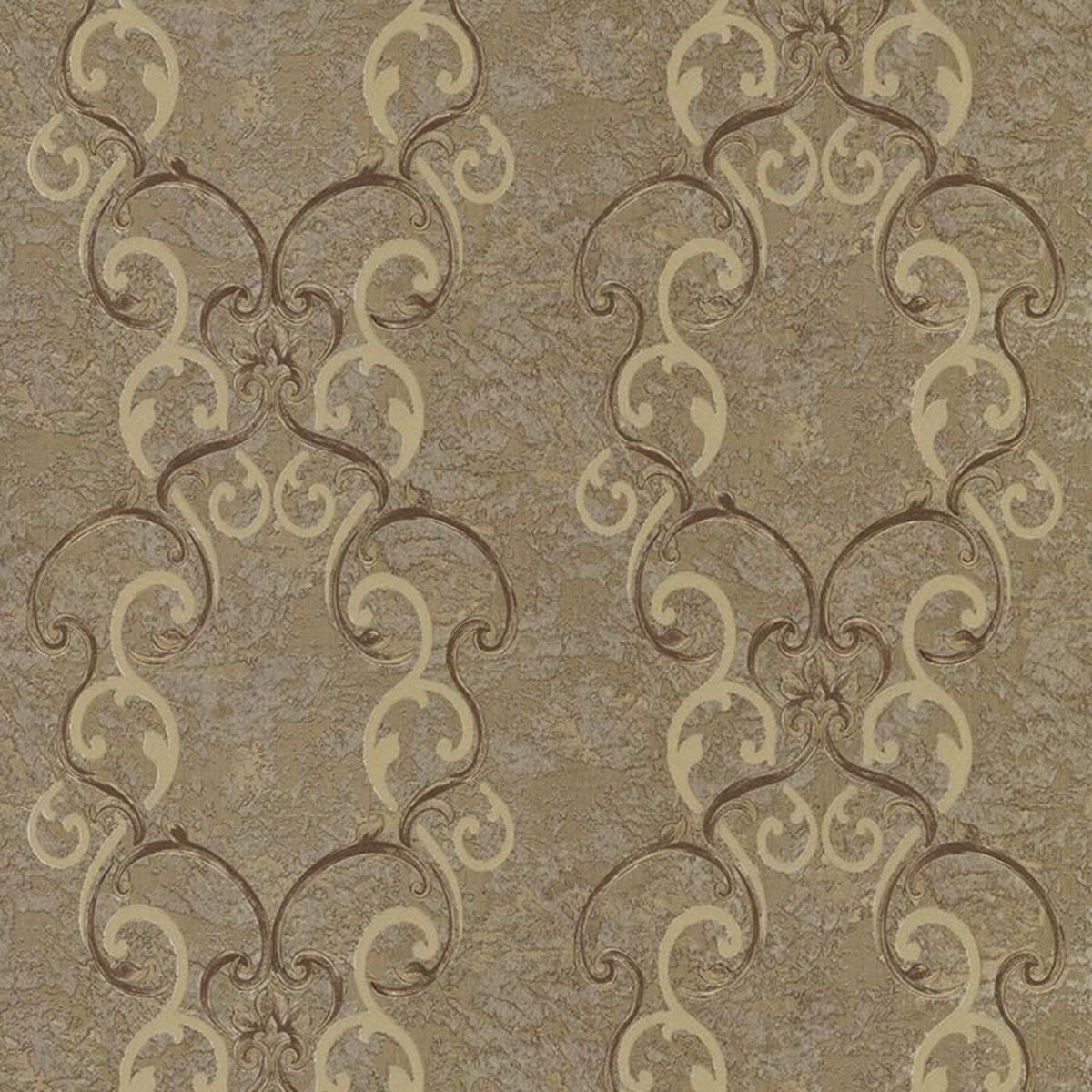 Обои флизелиновые Decori-Decori Altera коричневые 1.06 м 82359