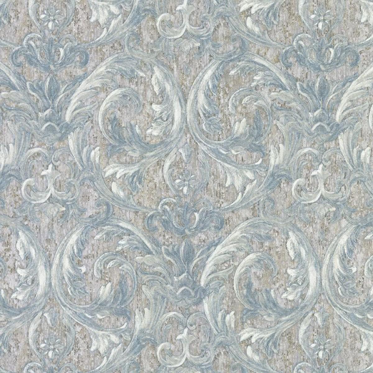 Обои флизелиновые Decori-Decori Altera голубые 1.06 м 82302