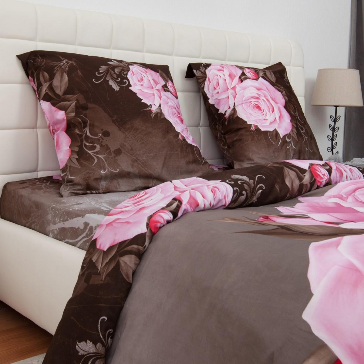 Комплект Постельного Белья Роза Полутораспальный Сатин 50x70