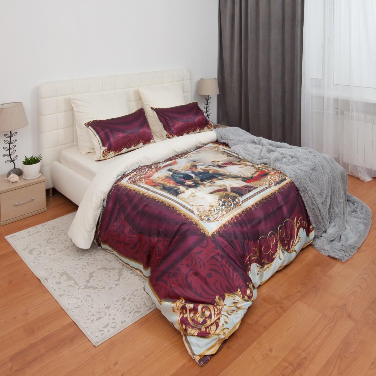 Комплект постельного белья Викторианский шик полутораспальный атлас