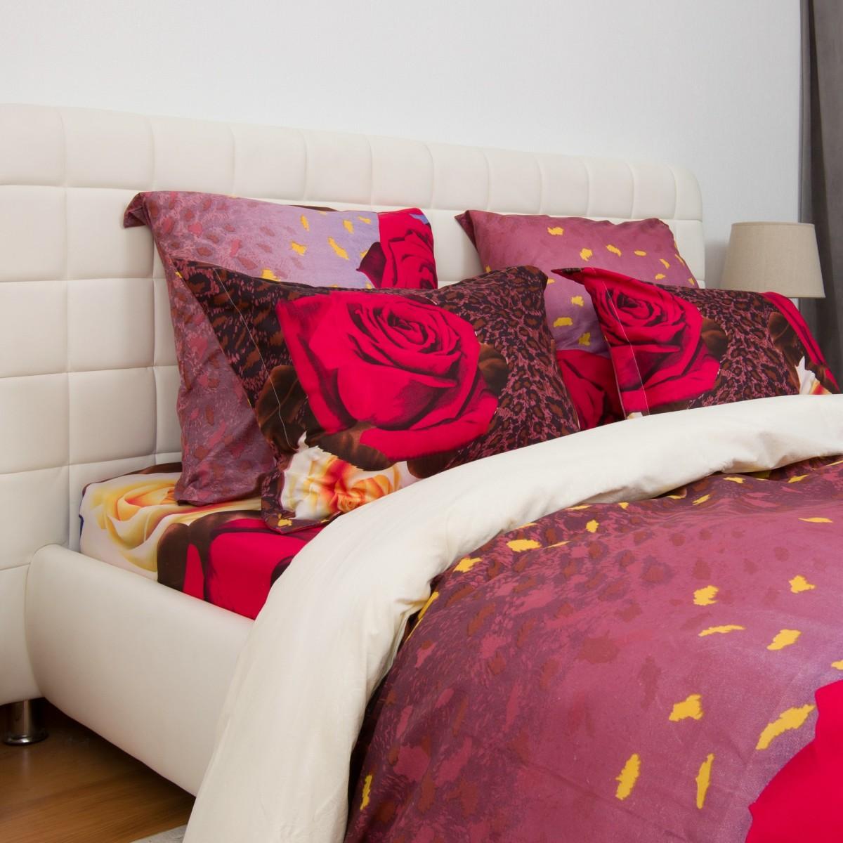 Комплект Постельного Белья Огненный Цветок Полутораспальный Микрофибра