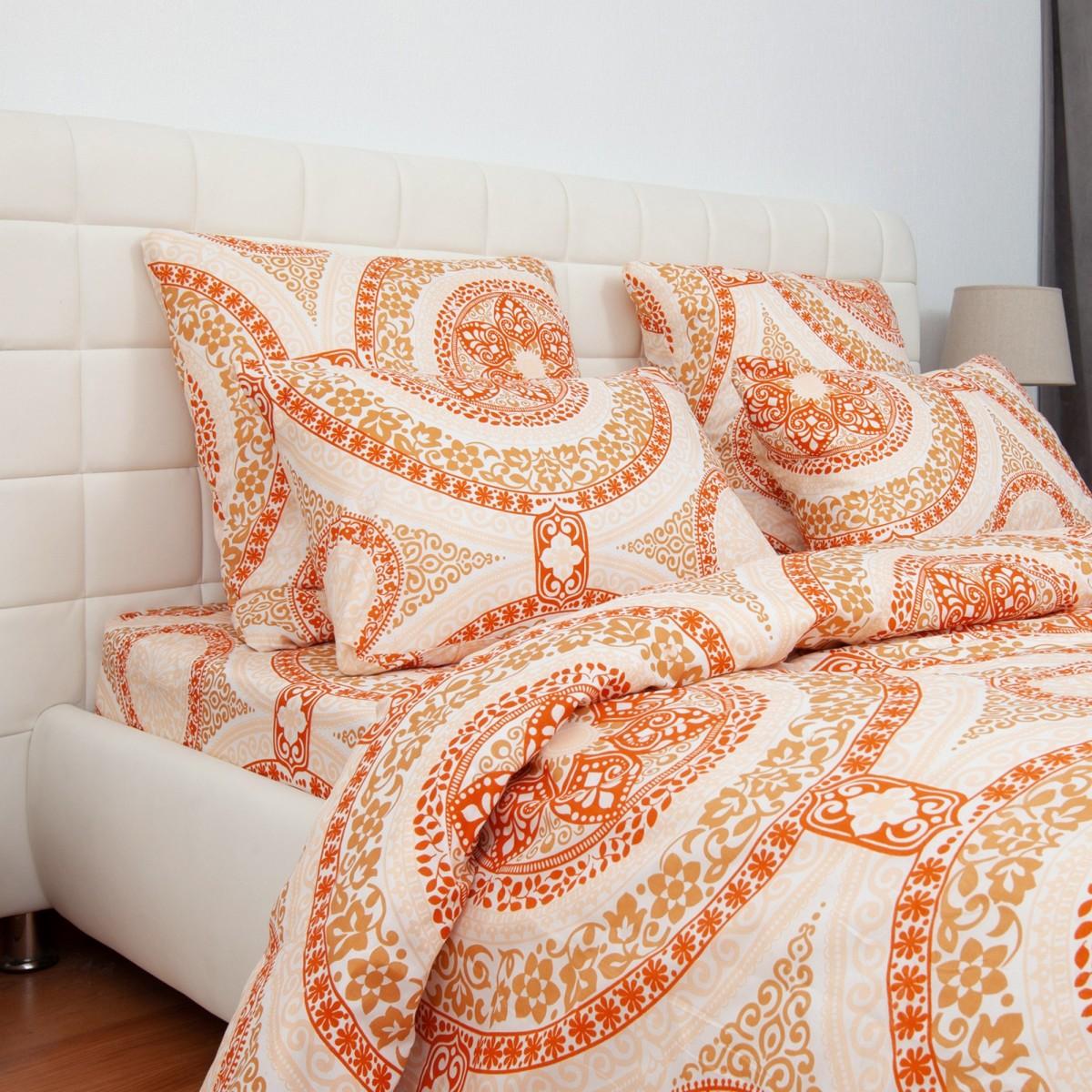 Комплект Постельного Белья Оранжевое Настроение Евро Микрофибра