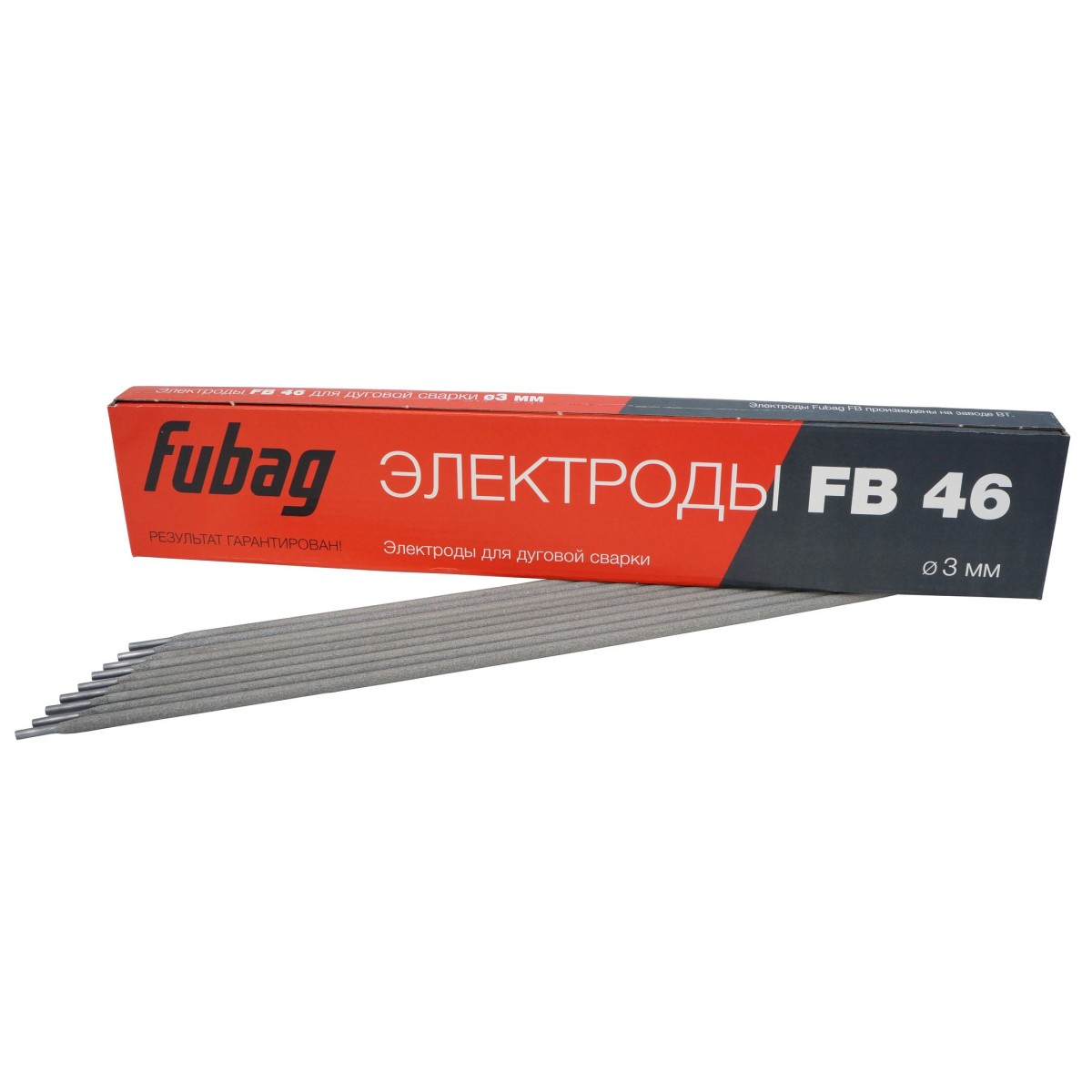 Электрод сварочный с рутилово-целлюлозным покрытием FB 46 D 3.0 мм пачка 0.9 кг