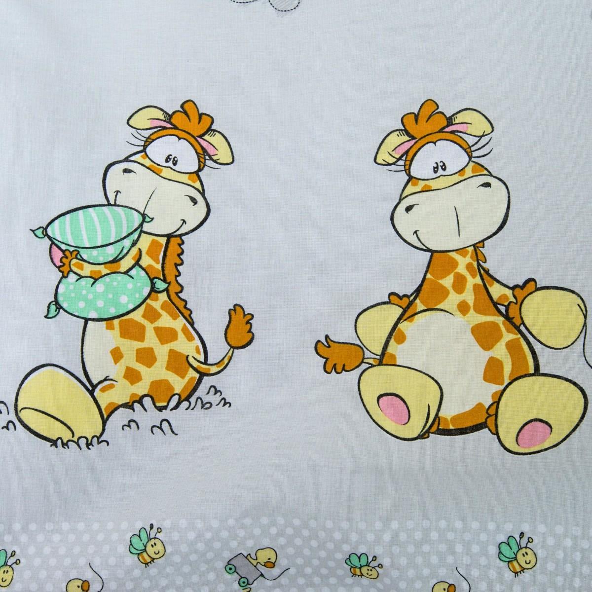 Комплект Постельного Белья Жирафик В Кроватку Бязь 3 Предм