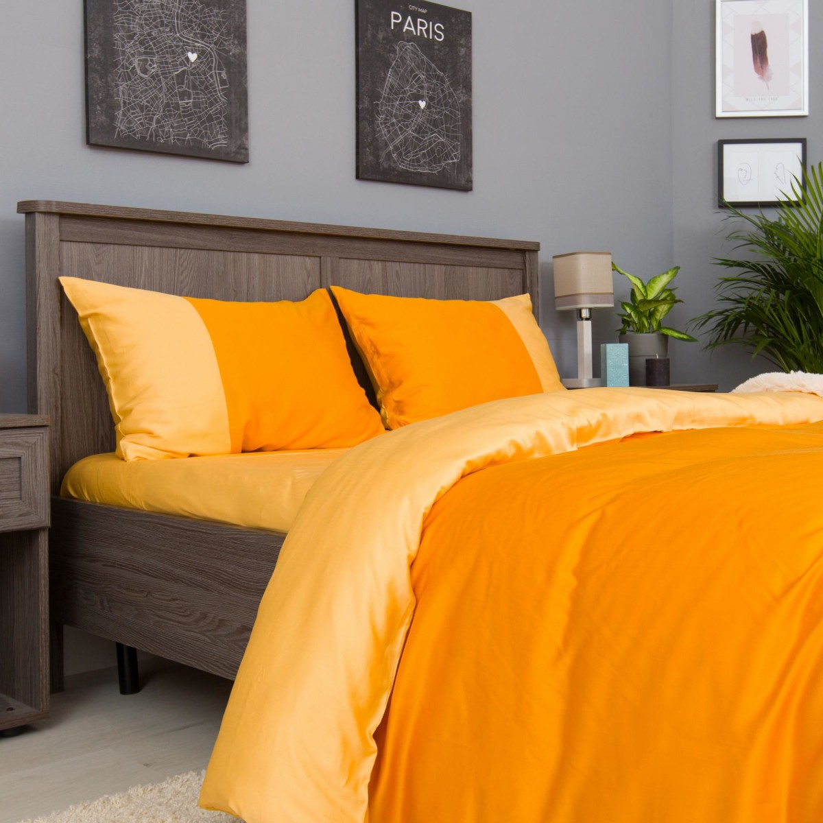 Комплект Постельного Белья Orange Fresh Полутораспальный Сатин
