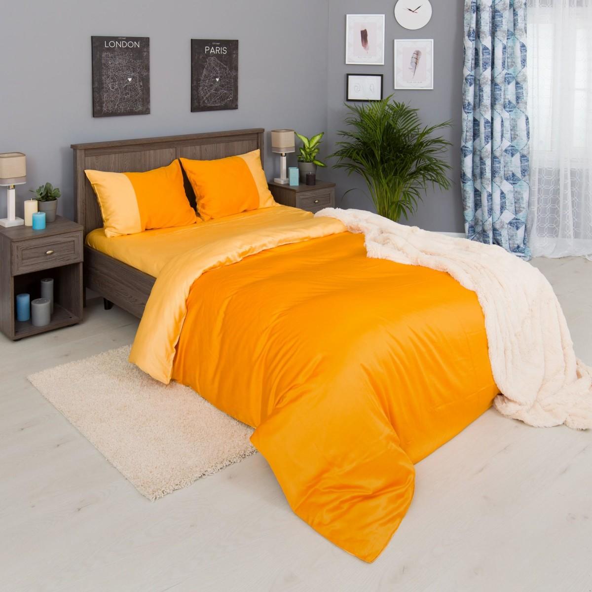 Комплект Постельного Белья Orange Fresh Семейный Сатин