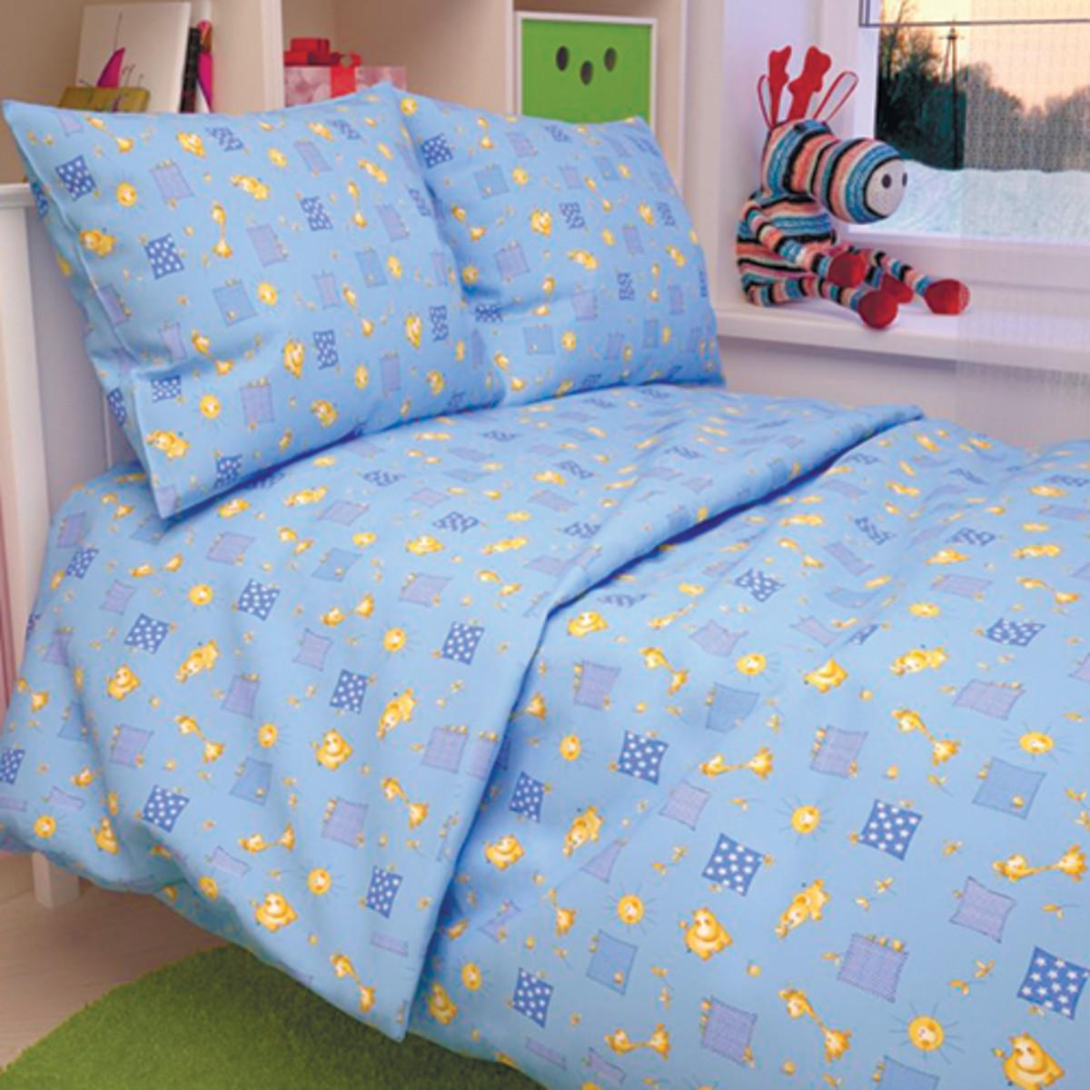 Комплект Постельного Белья Жирафики В Кроватку Бязь 3 Предм