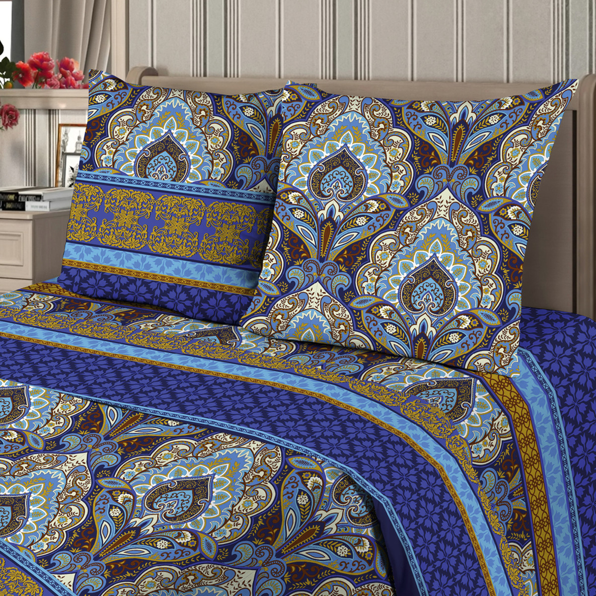 Комплект постельного белья «1000 и одна ночь» семейный бязь