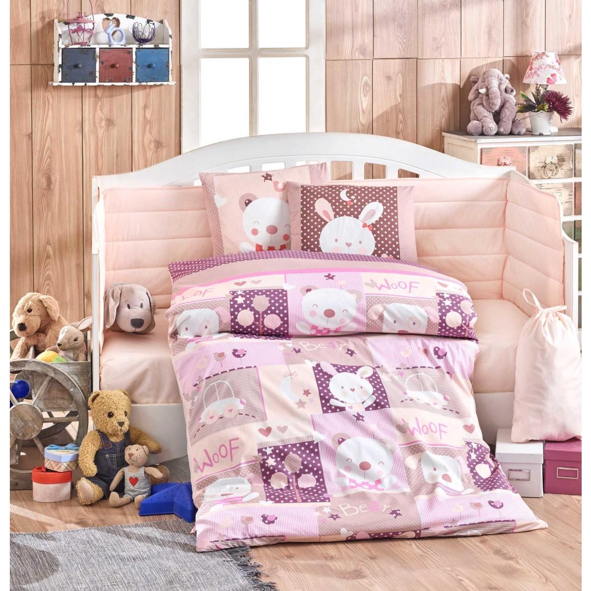 Комплект постельного белья HOBBY HOME COLLECTION в кроватку поплин 10 предметов