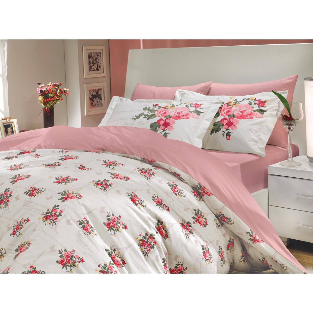 Комплект Постельного Белья Paris Spring Семейный Поплин 50x70 70x70